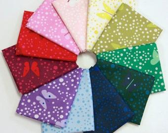 Lizzy House Butterflies Fat Quarter Bundle - Basics Bundle (Full Collection 11 FQs) Andover Fabrics