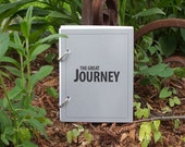 Travel Journal, Vacation Scrapbook, Holiday Journal - The Great Journey in Gray Stone