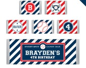 Baseball Party - Personalized DIY printable Hershey bar labels