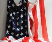 Huge Vintage 48 Star American Flag 5' x 9.5'