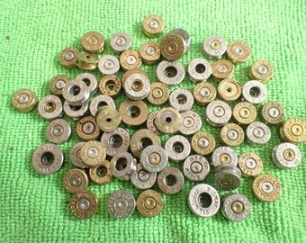 25 Bullet casing cabochons...genuine cut bullet casings ready for crafting