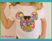 Flower Power Minnie Mouse inspired girls shirt, perfect for Disney, Disney Cruise, Minnie Mouse Birthday party