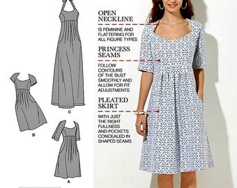Halter Top Dress Pattern, Amazing Fit Dress Pattern, Simplicity Sewing Pattern 1800