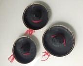 MH005 Single Mini Mexican Black Sombrero Hat