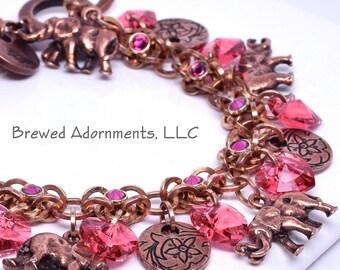 Kit Lucky - Elemental Charm Bracelet Elephant Pink