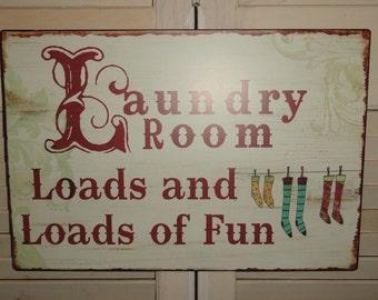 Laundry Room, Tin metal Sign, Wall Decor, Fun Sign, Home Decor, Laundry Room Decor, Wall Art,
