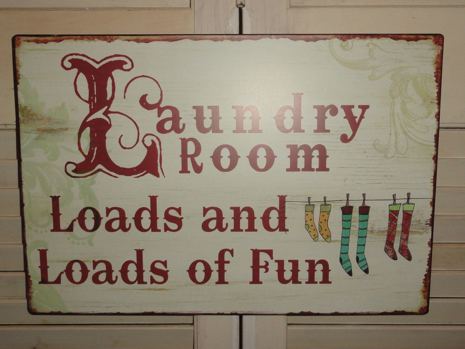 Laundry Room Tin Metal Sign Wall Decor Fun Sign Home