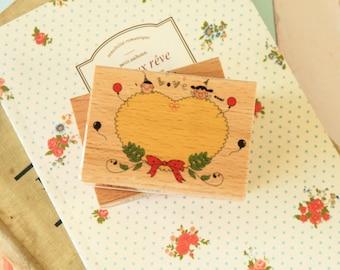 Fun Stamp RIBBON Love cartoon rubber stamp