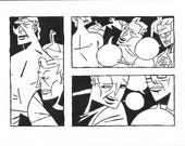 Red Right Hand original comic art page 3 bottom