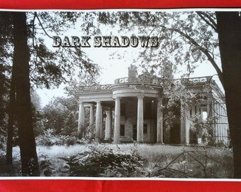 """Dark Shadows Blueprint Set ~ 41 Blueprints Copies Spiral Bound in 11"""" x 17"""" Book-Great Book to Have For A Halloween Party!!!"""