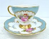 Vintage Foley Rose Floral Tea Cup and Saucer