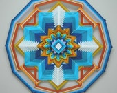 Guiding Light, a 32 inch, wool yarn, Ojo de Dios, by custom order