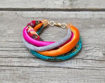 SUMMER FABRIC bracelet, fashion accessories, colorful fabric bracelet