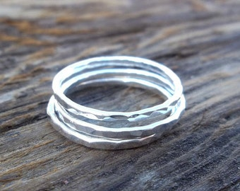Single Stacking Ring, Silver Stackable Ring, Sterling Silver Stacking Ring, Simple Ring, Midi Ring, Knuckle Ring, Skinny Ring, Stack Ring