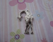 10pcs antique silver giraffe findings 43x30mm