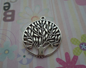 10pcs antique silver tree leaf/leafage/leaves findings 42x38mm
