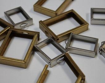 7Gypsies Pendant Frames small silver pendant frames large brass gold pendant frames Jewelry making scrapbooking embellishments pendants 10pc