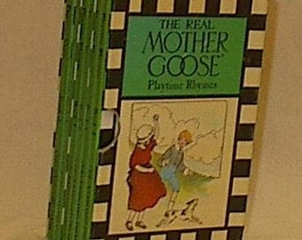 Mother Goose Playtime Rhymes Checkerboard Press 1944 set 6 children's board books