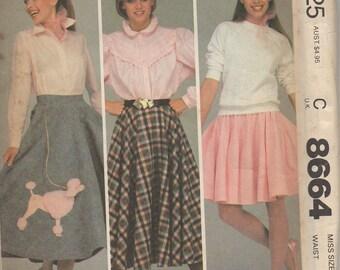 McCall's 8664 Misses' Skirt