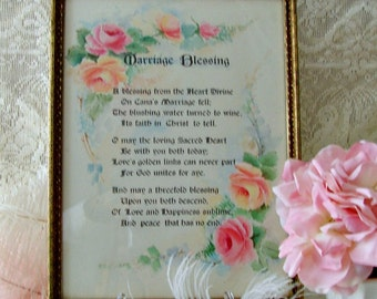 Vintage, Marriage Blessing Wall Hanging