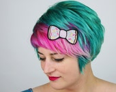 Donut Bow Hair Clip, Fast Food