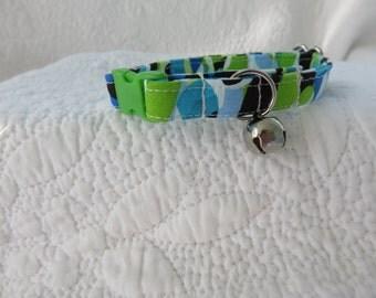 Cat Collar with   bell Breakaway Collar Custom Made