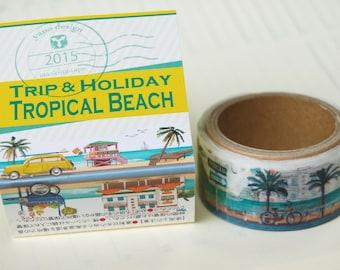 Summer 2015 Yano design Tropical Beach Trip and Holiday washi tape  20mm x 5M