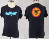Vintage 70s TED NUGENT concert tour t shirt / 1978 Ted Nugent Tour / Soft thin black concert tee
