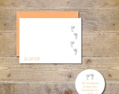 Baby Feet Thank You Cards, Baby Thank You Cards, Baby Announcement Cards, Baby Footprints, Baby Shower Thank You Cards  - Baby Footprints