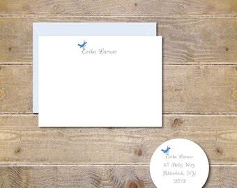 Blue Jays, Blue Jay Note Cards, Bird Stationery, Bird Note Cards,  Note Cards, Thank You Notes, Stationary, Thank You Cards,  Blue Bird