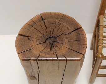 Walnut Stump Table Stool Seat Waterfall Edge