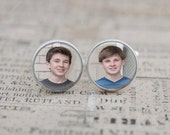 Custom Photo Cufflinks, personalized keepsake gift for him on your wedding day or anniversary