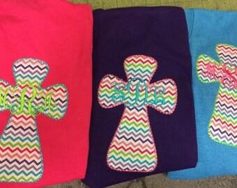 Monogram Cross Tee Shirt for Ladies