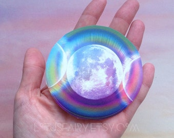 Moon sticker, triple goddess moon, dry locations only