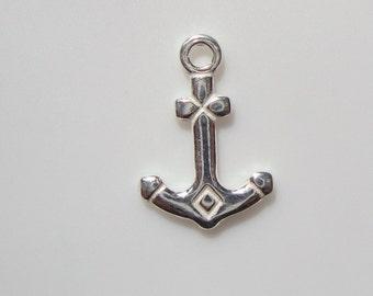 925 Sterling Silver Anchor Charm Pendant - UNIQUE - 15x10mm - 1 pcs - PC-0039