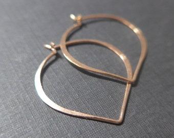 10 pcs,25x24mm,20.5 gauge, Handmade Rose Gold over Sterling Silver Longevity Peach, Heart, Lotus Petal Ear wire, EW-0030
