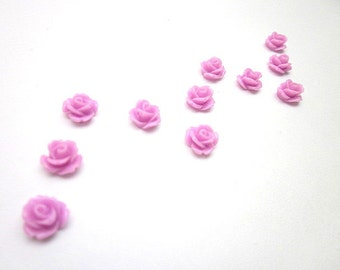 Pink Flower Supply -- Wholesale Mini Flower Supplies -- Pink Rose -- DIY Flower Pieces -- Mini Rose Flower -- Pink Cabochon -- Pink Flowers