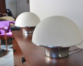 Pair of Mid-Century Mushroom Table Lamps