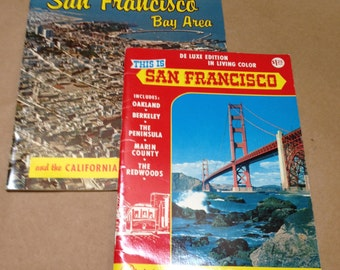 San Francisco Mid Century Travel Brochures Bay Area and Redwoods