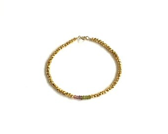 LIMITED EDITION TOURMALINE Bracelet | Tourmaline & Gold Pyrite