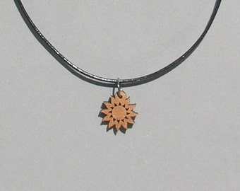 Wood Sun Necklace