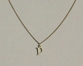 Antique Bronze p Necklace