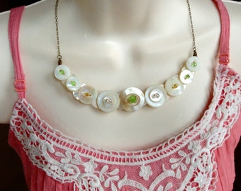 Precious in Pastel button necklace