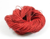 Paper Yarn - Paper Twine: Red - 131 yards (120m) - Knit, crochet, textile arts, DIY supply