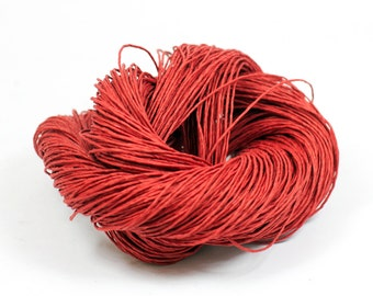 Paper Yarn - Paper Twine: Red - Knit, Crochet, Textile Arts, DIY Supply, Gift Wrap, Weave - Washable and Eco-Friendly
