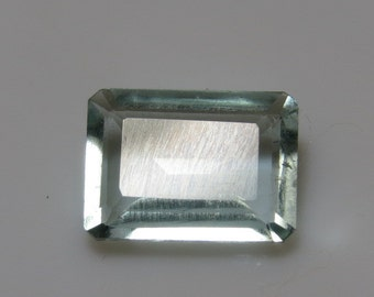 Aquamarine Blue - 100% Natural Untreated Emerald Cut Stone Amazing Blue Fine Cut Faceted stone ( From Brazil )
