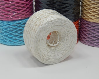100m  Spool of White/Off-White Paper Twine
