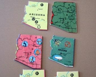 ARIZONA Vintage puzzle pieces- set of 8