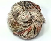 Speckled yarn DK weight 400 yards hand dyed hand painted superwash merino yarn tattooed lady