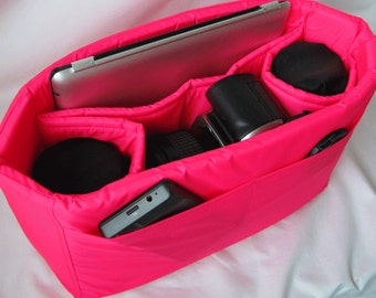 PreOrder Camera Bag Insert  - 2 Lens Sleeves  - Custom Sizes & Color